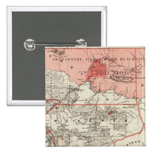 Territorio de Montana Pin Cuadrada 5 Cm