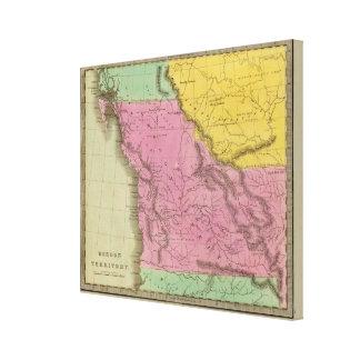 Territorio de Oregon Lona Envuelta Para Galerías