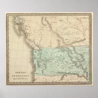 Territorio de Oregon Poster