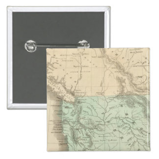 Territorio de Oregon Pin Cuadrado