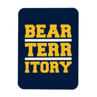 Territorio de oro del oso imanes rectangulares