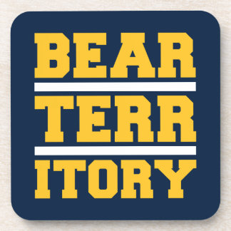 Territorio de oro del oso posavasos