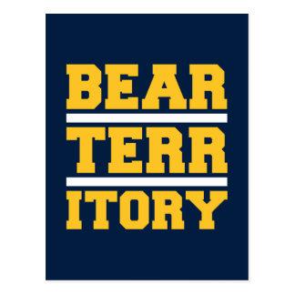 Territorio de oro del oso tarjetas postales