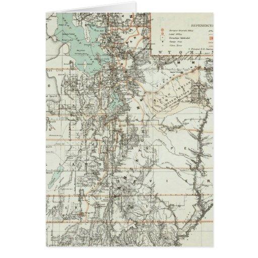 Territorio de Utah 2 Tarjeta De Felicitación