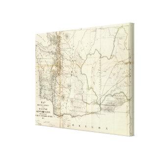 Territorio de Washington Impresión En Lona Estirada