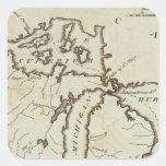 Territorio del noroeste pegatina cuadrada