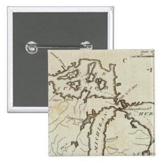 Territorio del noroeste pin cuadrada 5 cm
