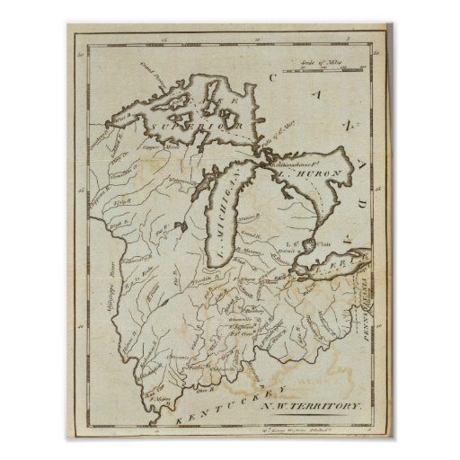 Territorio del noroeste póster