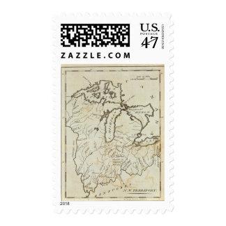 Territorio del noroeste timbre postal