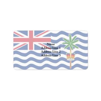 Territorio del Océano Índico británico, Reino Etiquetas De Dirección