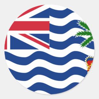 Territorio del Océano Índico británico, Reino Pegatina Redonda