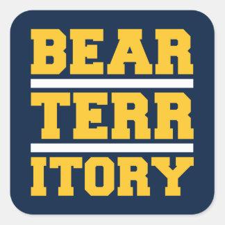 Territorio del oso pegatina cuadradas personalizada