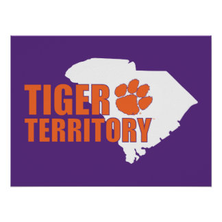 Territorio del tigre de Clemson Póster