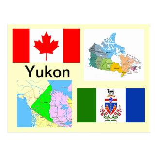 Territorio del Yukón Canadá Tarjeta Postal