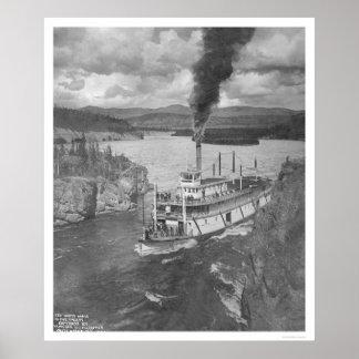 Territorio del Yukón del barco de vapor 1920 Posters