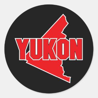 Territorio del Yukón Pegatina Redonda