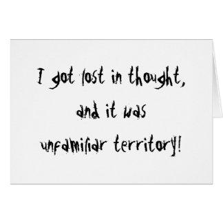 Territorio desconocido tarjeta de felicitación