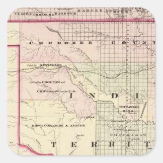 Territorio indio 2 pegatina cuadrada