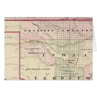 Territorio indio 2 tarjeta de felicitación