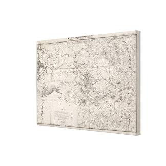 Territorio indio impresión en lona estirada