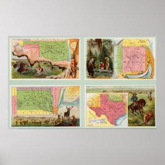 Territorio indio, New México, Dakota del Sur, Teja Posters