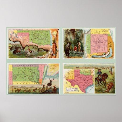 Territorio indio, New México, Dakota del Sur, Teja Póster