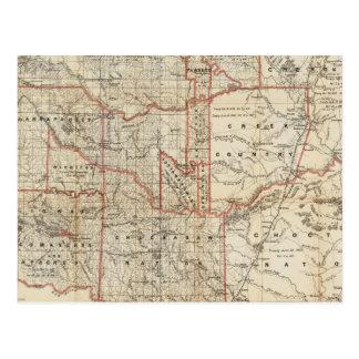 Territorio indio tarjeta postal
