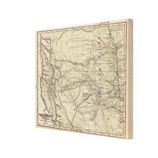 Territorio indio, Tejas del norte, New México Lienzo Envuelto Para Galerias