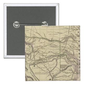 Territorio indio, Tejas del norte, New México Pin Cuadrado