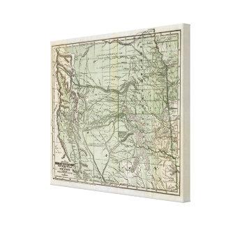 Territorio indio, Tejas septentrional y New México Impresión En Lienzo Estirada