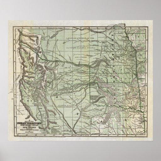 Territorio indio, Tejas septentrional y New México Posters