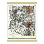 Territorio viejo 1887 del mapa de Arizona Postales