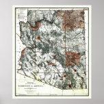 Territorio viejo 1887 del mapa de Arizona Poster