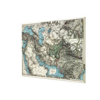 Territorios británicos y rusos de Afganistán Impresión En Tela