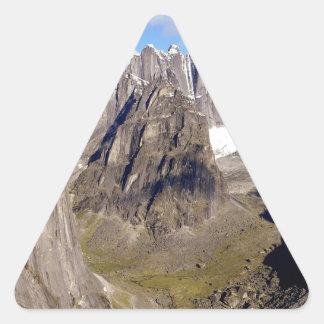 Territorios de Cirque Unclimbables Nahanni del Pegatina Triangular