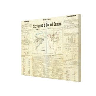 Territorios de Sierragorda e Isla del Carmen Impresiones En Lona Estiradas