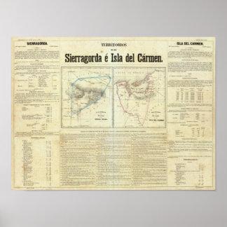 Territorios de Sierragorda e Isla del Carmen Impresiones