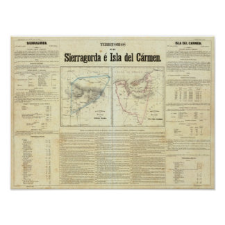 Territorios de Sierragorda e Isla del Carmen Poster