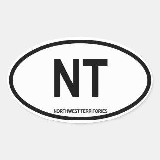 """Territorios del noroeste """"NT """" Pegatinas De Oval Personalizadas"""