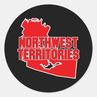 Territorios del noroeste pegatina redonda