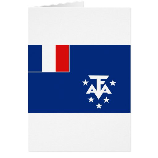 Territorios meridionales franceses tarjeta de felicitación