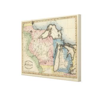 Territorios occidentales y de Michigan del norte Lona Estirada Galerías