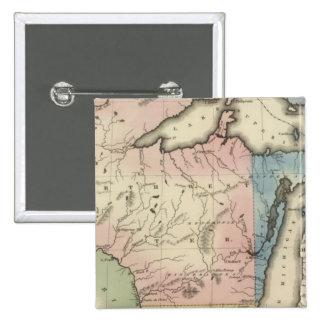 Territorios occidentales y de Michigan del norte Pin Cuadrado