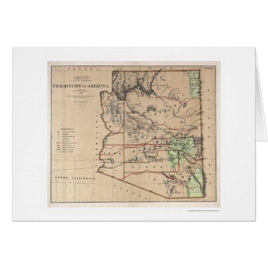 Territory Of Arizona Map 1876 Card