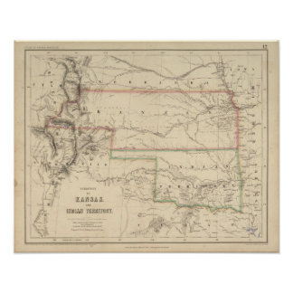 Territory of Kansas and Native Americans Poster