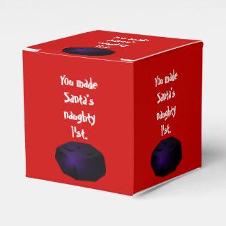 Terrón de la caja clásica del favor del carbón cajas para regalos
