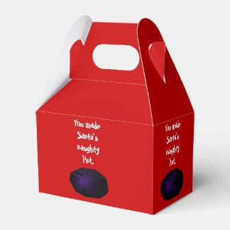 Terrón de la caja del favor del aguilón del carbón cajas para regalos