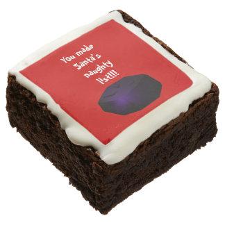 Terrón del brownie del carbón