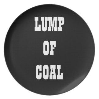Terrón del carbón platos de comidas