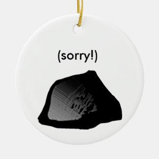 terrón del ornamento del carbón adorno navideño redondo de cerámica